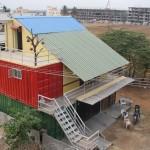 Conheça a primeira casa feita de container da Índia