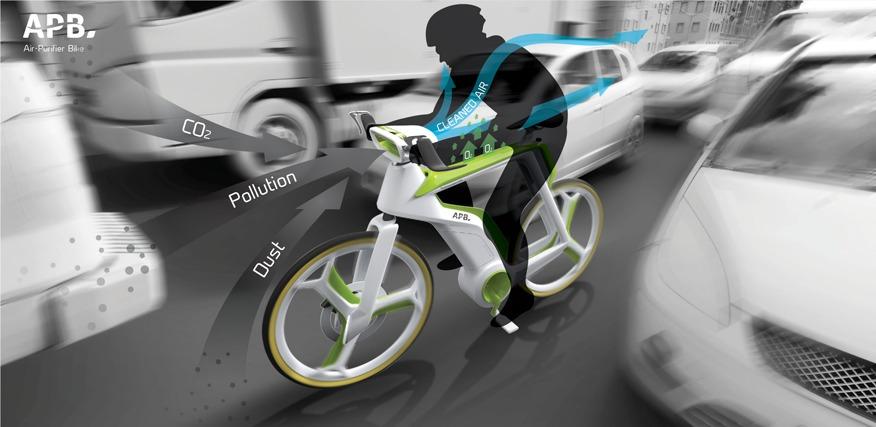 A bicicleta que purifica o ar enquanto você pedala