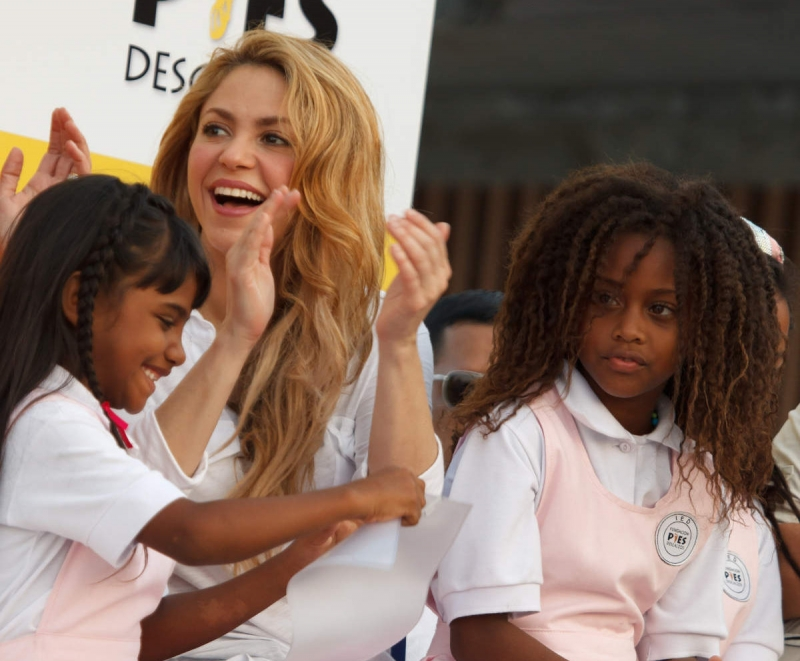 ONG fundada por Shakira beneficia milhares de pessoas na Colômbia
