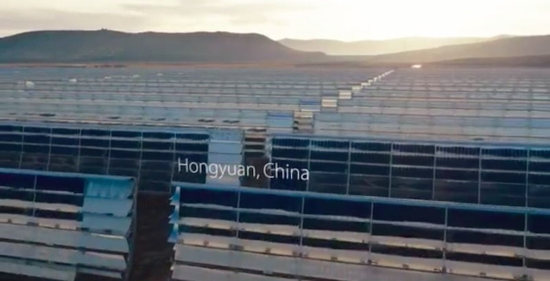 Apple constrói duas novas usinas solares na China