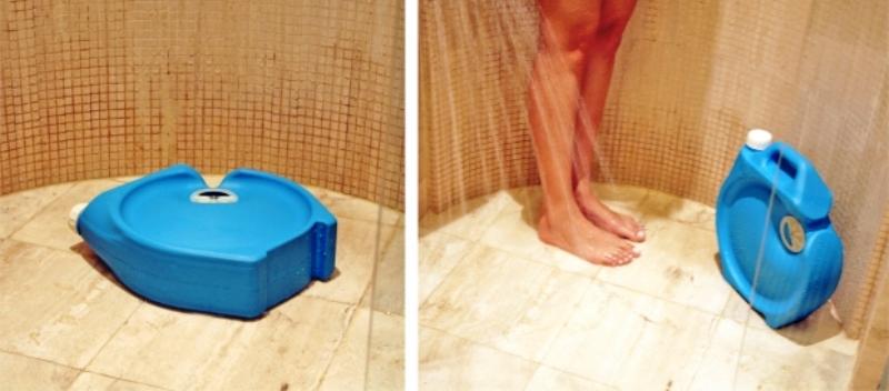 Precisa esperar o chuveiro esquentar? Dispositivo armazena água para reutilizá-la