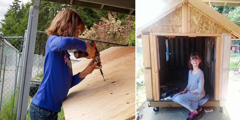 Ela tem só 9 anos, mas já constrói casas para os sem-teto dos EUA