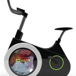 Que tal lavar a roupa enquanto se exercita em uma bicicleta ergométrica?