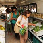 Ônibus itinerante vende alimentos orgânicos de produtores familiares por um preço acessível