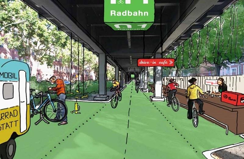 Em Berlim, ciclovia coberta protege do sol e da chuva e produz energia com movimento das bikes