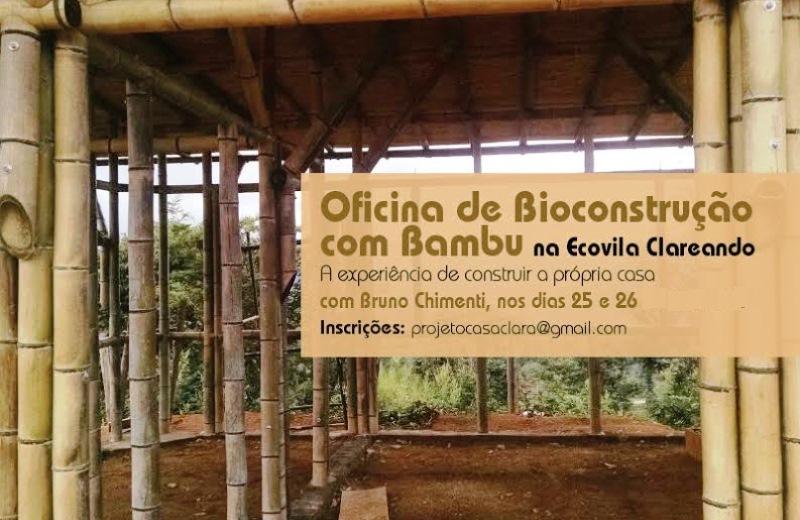 Ecovila em SP promove oficina prática que ensina a construir casas com bambu