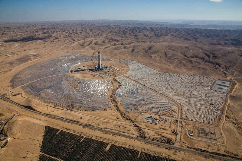 A usina solar em Israel que funciona à base de vapor de água