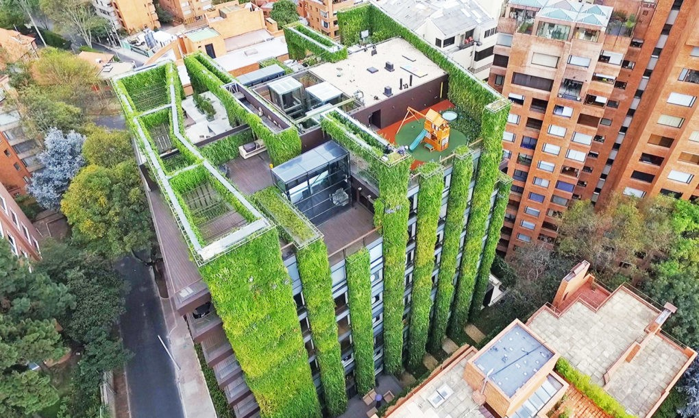Bogotá constrói maior jardim vertical do mundo