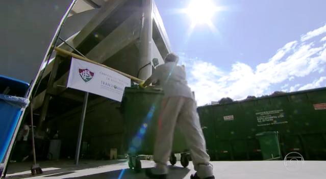 Nada de mandar pro aterro! No Maracanã, todo lixo produzido é compostado ou encaminhado para reciclagem – mas só nos jogos do Fluminense