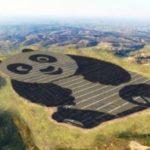 China constrói estação de energia solar em formato de urso panda