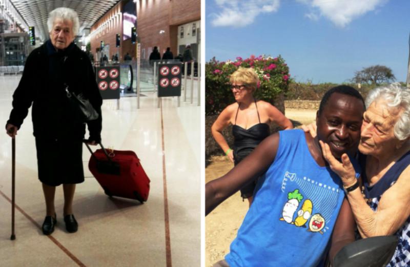 A senhora de 93 anos que foi para a África trabalhar como voluntária em um orfanato