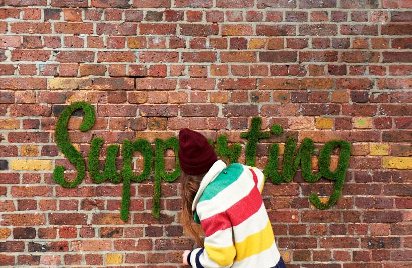 Artista esverdeia cidade de Londres com grafite vivo feito de musgo