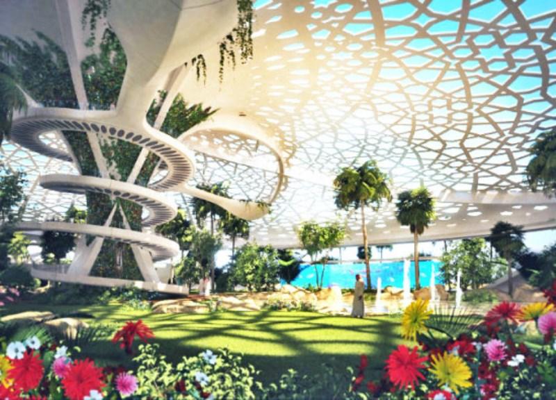 Palácio no Qatar vira parque ecológico