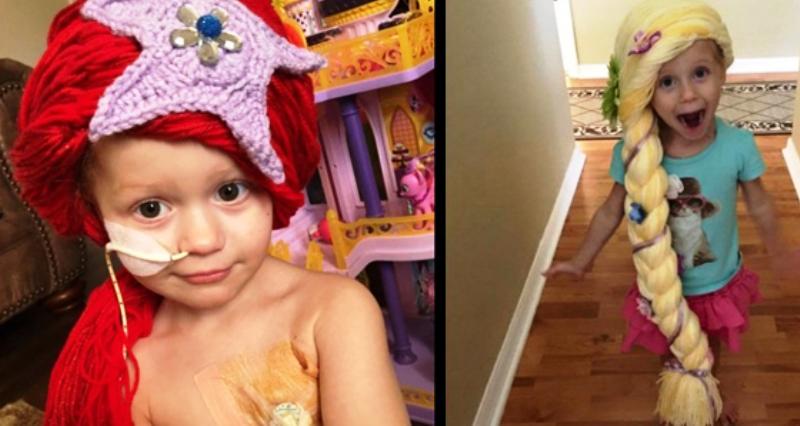 Enfermeira cria perucas de princesa para alegrar meninas com câncer