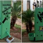 Jovem transforma geladeira velha em máquina que distribui ração e água para animais de rua