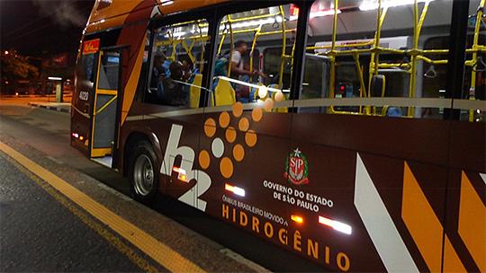 Os ônibus de São Paulo que emitem vapor de água em vez de CO2