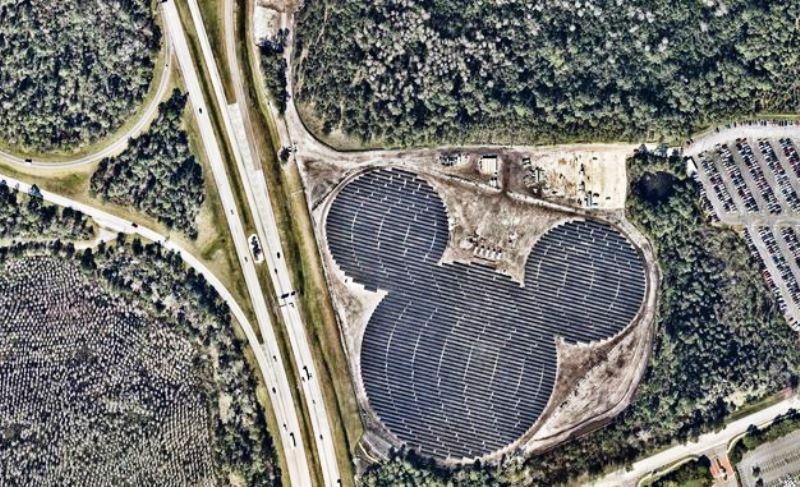 Disney constrói usina solar em formato de Mickey