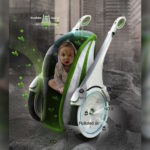 O carrinho de bebê tecnológico que filtra o ar enquanto está em movimento