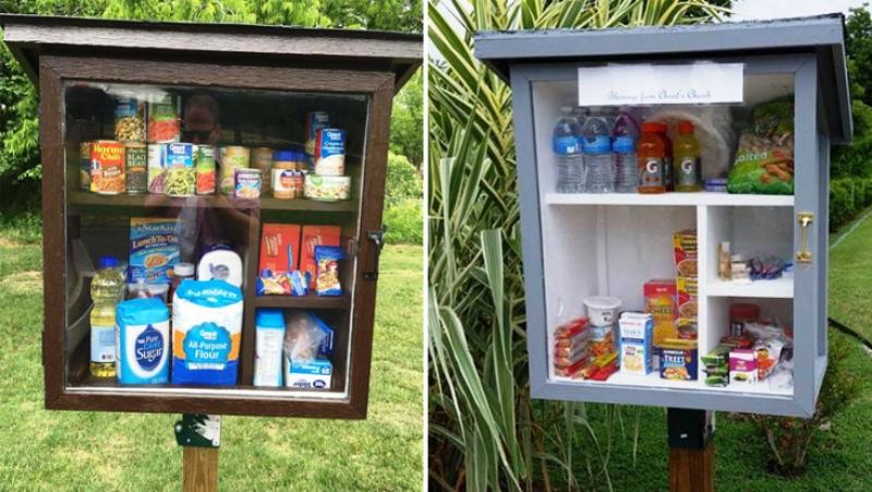 Cidade dos EUA espalha pelas ruas armários com roupas, artigos de higiene e material escolar para quem precisa