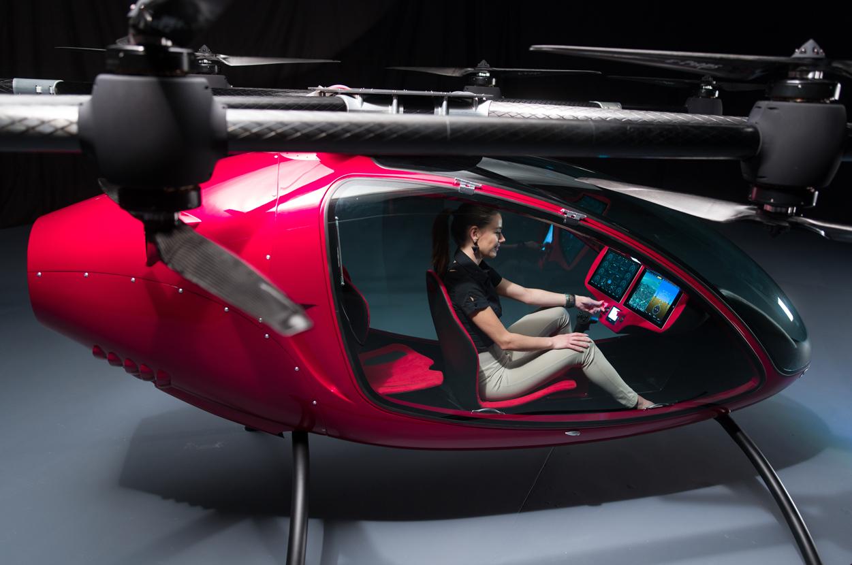 O drone que transporta passageiros sem emissão de CO2 (e o melhor: se pilota sozinho)