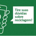 Robô responde dúvidas sobre reciclagem pelo Whatsapp