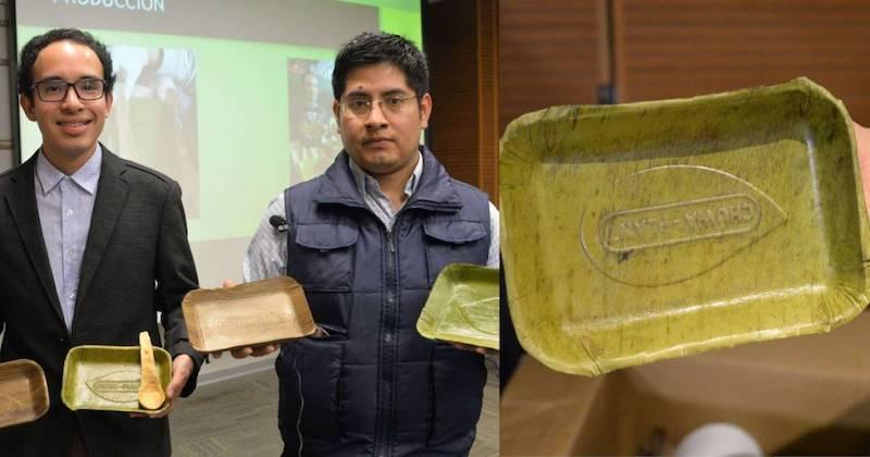 Jovens peruanos criam pratos que se degradam em 60 dias