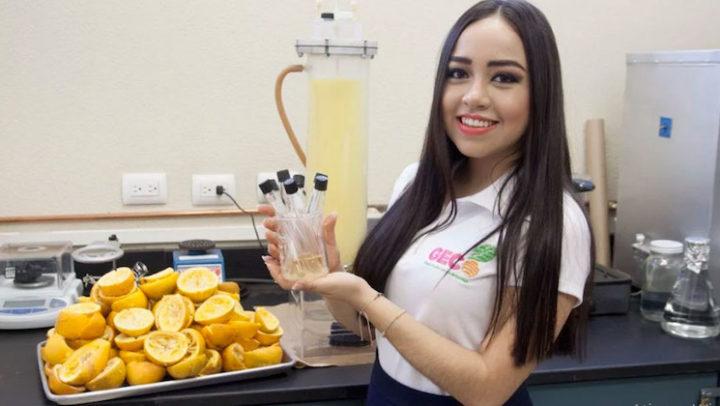 Estudante mexicana cria plástico de casca de laranja que se decompõe em 90 dias