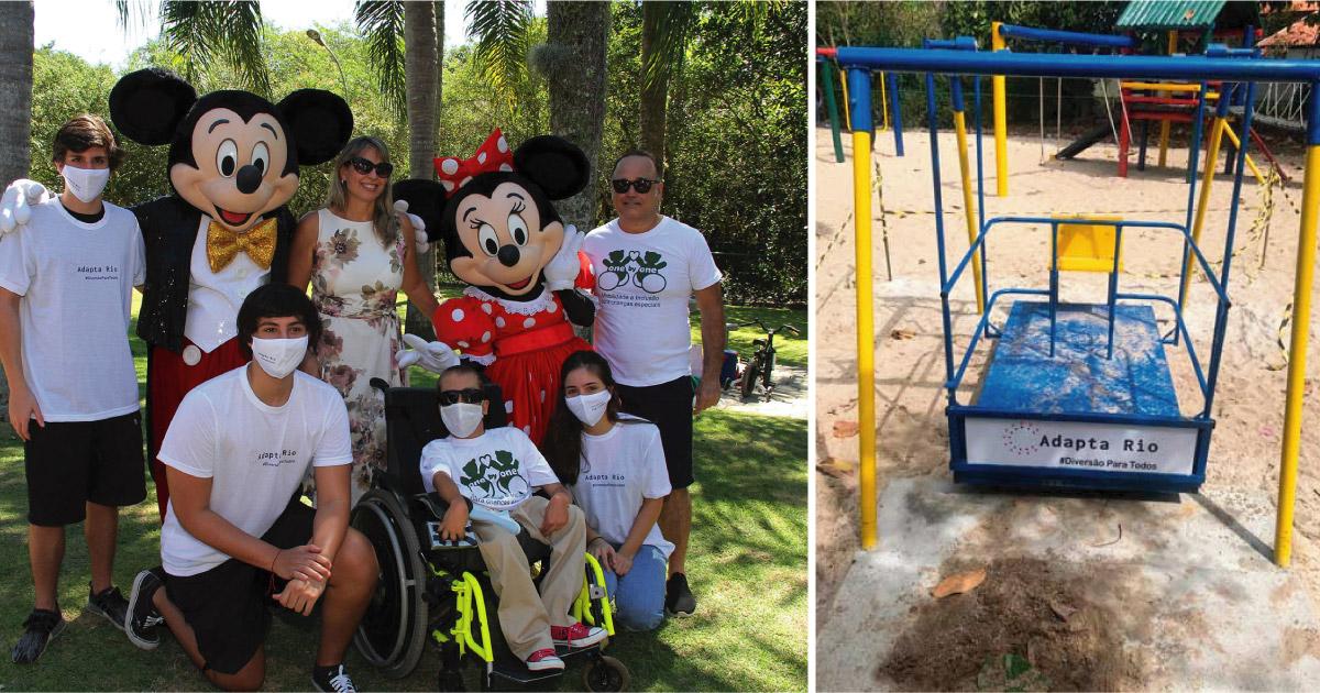 Jovens criam projeto para adaptar parques públicos do RJ para crianças com deficiência