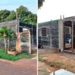 Casal constrói casa sustentável com 10 mil garrafas de vidro, em Foz do Iguaçu